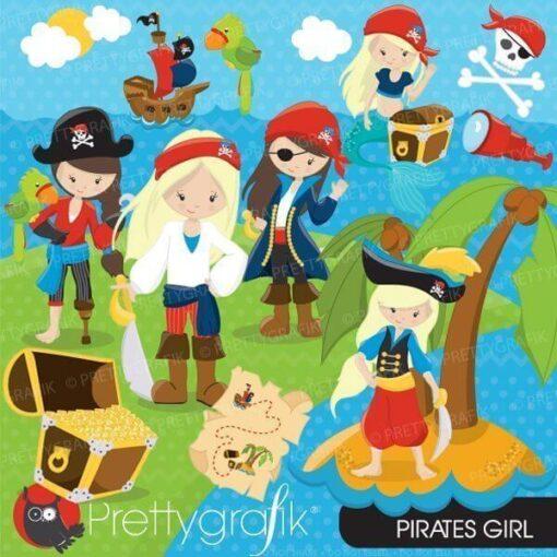 Girl pirate clipart