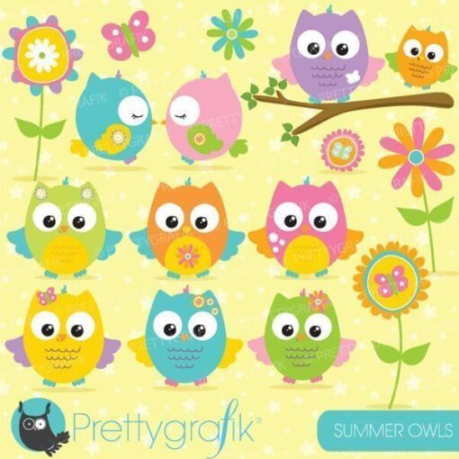 Summer owl clipart