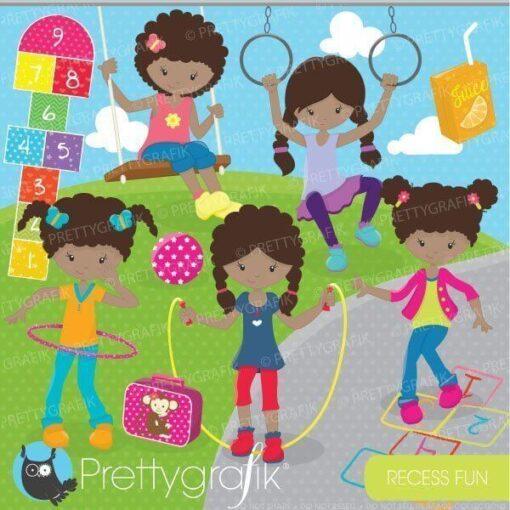 Recess playground clipart