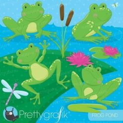 Frog pond clipart