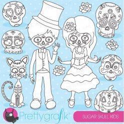 Sugar skull kids stamps