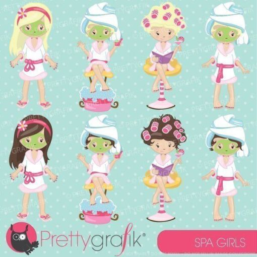 Spa girls party clipart