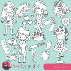 Spa girls party stamps