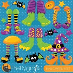 Halloween feet clipart