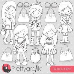 Fashion girls stamps