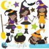Tween witch clipart