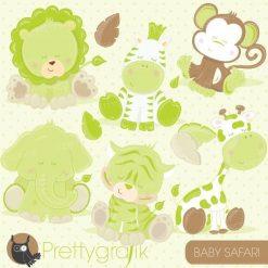Baby safari clipart