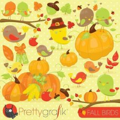 Fall birds clipart