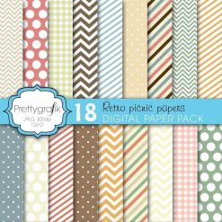 Retro picnic papers