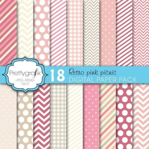 Pink picnic papers