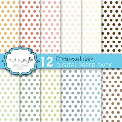 Distressed dot papers