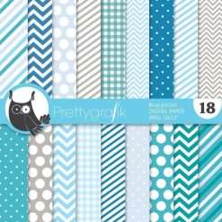 Blue picnic papers