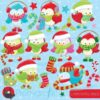 Christmas bird clipart