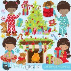 Christmas morning clipart