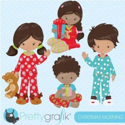 Christmas morning clipart