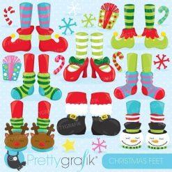 Christmas feet clipart