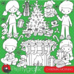 Christmas morning stamps