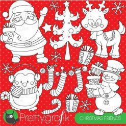 Christmas friends stamps