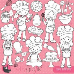 Baking girl stamps