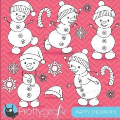 Happy snowman stamps