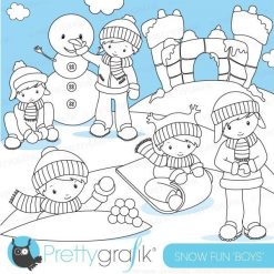 Snow fort stamps