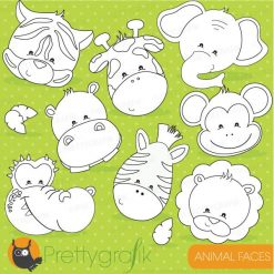 Animal faces stamps