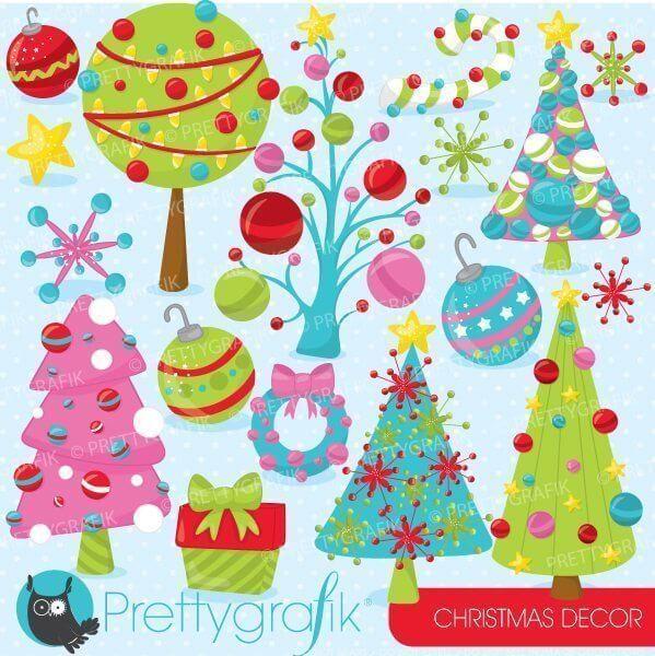 christmas decorations clipart prettygrafik store christmas decorations clipart