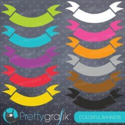 Colorful banners clipart