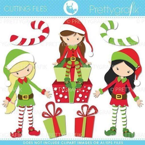 Christmas elf cutting files