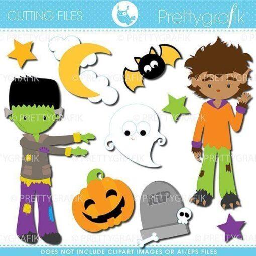 Halloween boys cutting files