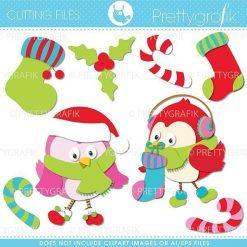 Christmas birds cutting files