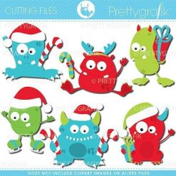 Christmas monsters cutting files