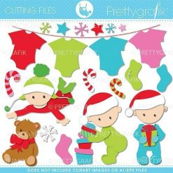 Christmas babies cutting files