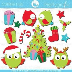 Christmas owls cutting files