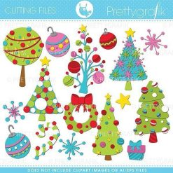 Christmas decorations cutting files
