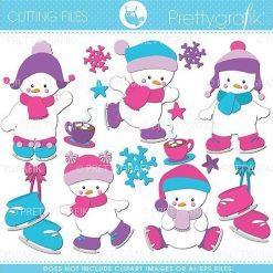 Snowman babies cutting files