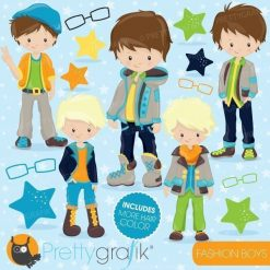 Fashion boys clipart