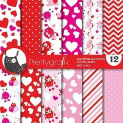 Valentine monster papers