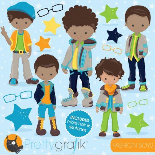 Fashion boys clipart