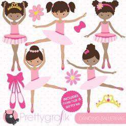 Dancing ballerina clipart