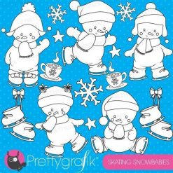 Baby snowman stamps