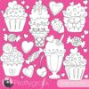 Valentine sweets stamps