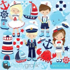 Nautical kids clipart