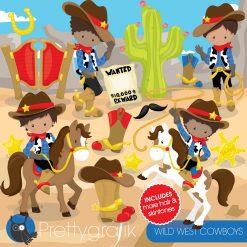 Wild west cowboys clipart