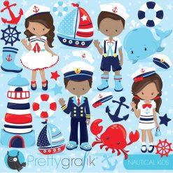 Nautical kids clipart
