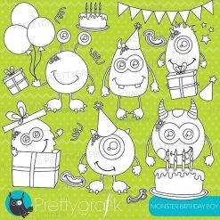 Monster birthday stamps