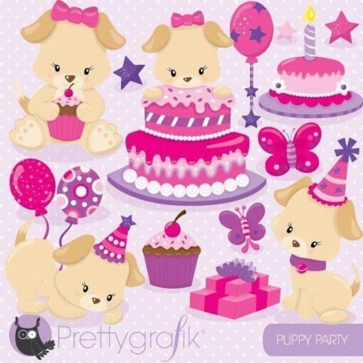 puppy birthday clipart