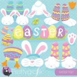Easter feet clipart