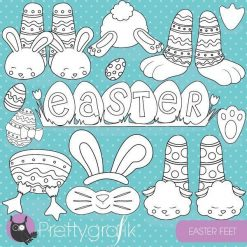 Easter feet stamps