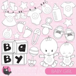 Baby girl stamps